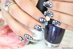 makkelijke blauwe nail art