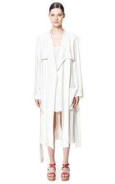 HOTTTT...Zara loose trench, this could be rocked as a dress instead, I certainly would.