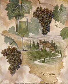 Toscana - Abbondanza by Ron Jenkins art print