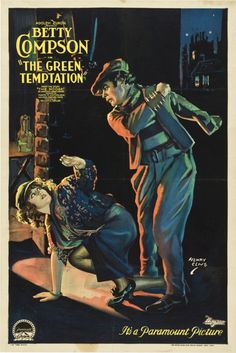 One-sheet poster for THE GREEN TEMPTATION (William Desmond Taylor, USA, 1922)    Artist: Henry Clive (1882-1960)