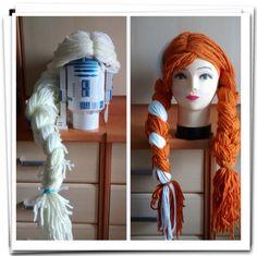 Pelucas de lana inspiradas en Frozen.