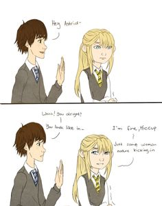 Astrid and Hiccup in Hogwarts, Part 1/9
