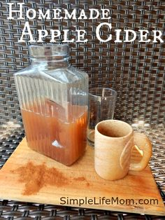 Homemade Apple Cider Recipe - Great for the holidays, easy, fresh, and makes your house smell amazing!!