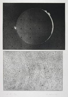 Vija Celmins ~ Jupiter Moon - Constellation, 1983 (mezzotint and etching on paper)