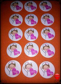 Un detallito para las enfermeras del hospital Verge de la cinta de Tortosa. #Chapó #chapaspersonalizadas #tortosa