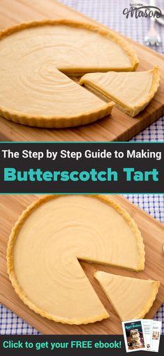 Old School Butterscotch Tart Recipe, school desserts, caramel tart recipe, gypsy tart recipe #butterscotchtart #carameltart #gypsytart #schooldinners #schoolrecipes