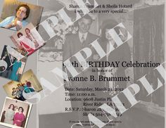 90th Birthday Party Invitation by InvitasticInvites on Etsy, $12.00