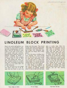 vintage child crafts 1950's