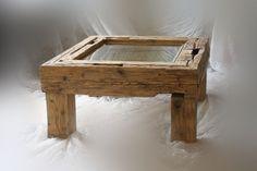 Scheunen Design – Couchtisch – Holz, Glas