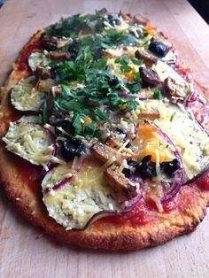 Pizzazunge mit grünem Erbsenmehl