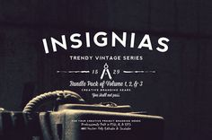 33 Trendy Vintage Insignias Bundle #logotemplates #badgetemplates #vectorgraphics #insigniatemplates #megabundle