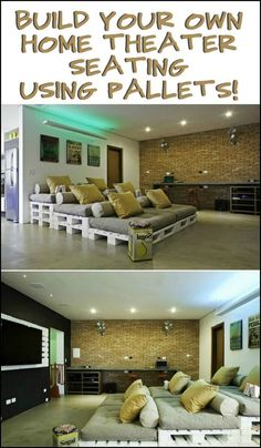 Basement Home Theater (basement ideas on a budget) Tags: basement idea. Basement Home Theater (basement ideas on a budget) Tags: basement ideas finished, unfinis Home Theater Basement, Home Theatre, Movie Theater Rooms, Home Cinema Room, Best Home Theater, Home Theater Setup, Home Theater Speakers, Home Theater Seating, Home Theater Design