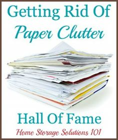 Getting rid of paper clutter: list of ideas of things to declutter plus examples of what people have tossed {on Home Storage Solutions 101}