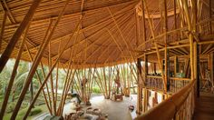 Elora Hardy: Magical houses, made of bamboo | Talk Video | TED.com: The stunning bamboo homes built by Elora Hardy and her team in Bali twist, curve and surprise at every turn. They defy convention because the bamboo itself is so enigmatic. No two poles of bamboo are alike, so every home, bridge and bathroom is exquisitely unique.... #Design #Architecture #Green