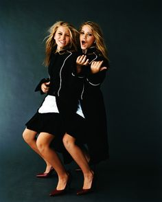 Ashley and Mary Kate Olsen photographed by Peggy Sirota for Vanity Fair, 2002