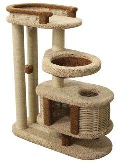 Когтеточка дом для кошки Пушок БРУНЕТКА 100х40х110 см.
