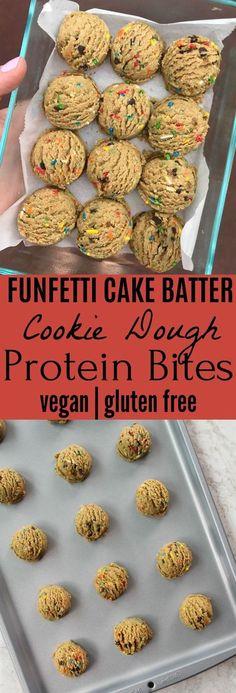Ideas for dairy free protein snacks cake batter Protein Bites, Protein Foods, Protein Ball, Gluten Protein, Energy Bites, Vegan Protein Cookies, Protein Muffins, Cake Batter Protein, Recipes