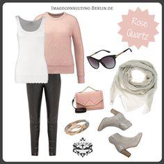 """Frühling/Sommer 2016 Trendfarbe """"Rose Quartz"""" : Outfit für den Wintertypen oder """"cool & clear"""""""