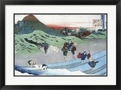 Traditional Japanese art Title: Farm Women Wash White Linen Clothes Artist: Katsushika Hokusai Type: Fine-Art Print Paper Size: x Artsy Couture, Farm Women, Traditional Japanese Art, Katsushika Hokusai, Japanese Prints, Vintage Japanese, Vintage Shops, Fine Art Prints, Art Gallery