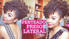 Penteado preso lateral pra cabelos curtos e cacheados/crespos