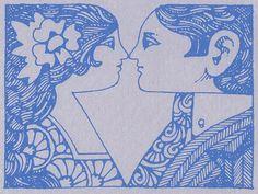Illustration by John Alcorn, 1968  #blue #illustration