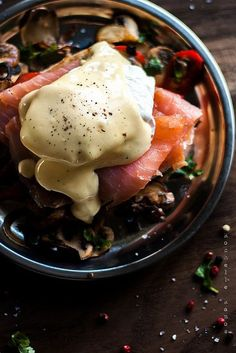 """intensefoodcravings: """"Eggs Royale 