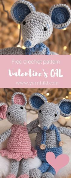 Crochet Amigurumi Patterns Free crochet pattern for this sweet mouse. - Find the free pattern for this adorable amirugumi mouse on Yarnhild. This is the second part of our Valentine's CAL and this is the free pattern for Malvin the amirugumi mouse. Chat Crochet, Crochet Cat Toys, Crochet Animal Amigurumi, Crochet Gratis, Crochet Mouse, Crochet Baby Hats, Crochet For Kids, Crochet Animals, Crochet Socks