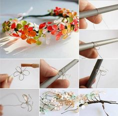 How To Make Wire And Nail Polish Flowers – DIY