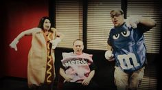 When Moon, Staci & Crisco don food costumes, this happens… #KS95 #Fun