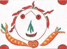 giuseppe arcimboldo- fruits and vegetables to do a self portrait