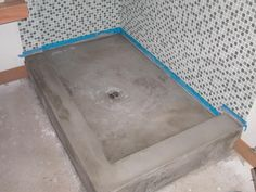 cement showers | The concrete Shower is done, just needs to be sealed.