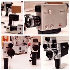 Braun video cameras from the 1960s.