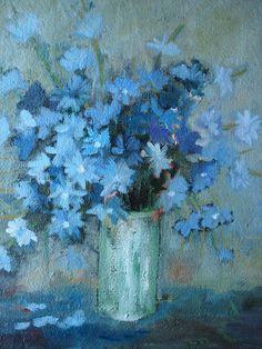 Blue Floral by Natalia Bardi