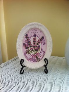 Lavender painting decoration by GraceDecorations on Etsy, $20.00
