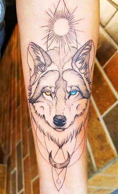 Wolf Tattoo Design, Tattoo Designs, Forearm Tattoos, Body Art Tattoos, Cool Tattoos, Wolf Tattoos For Women, Tattoos For Guys, Wolf Tattoo Sleeve, Sleeve Tattoos