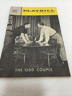 Playbill The Odd Couple 1960s Broadway Eddie Bracken Mike Kellin Neil Simon