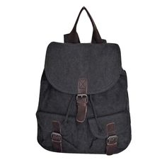 €19,45 URBAN LOOP | Zaino in   tela uomo cachi grigio scuro nero antracite con tasche e fibbie design vintage army Backpack