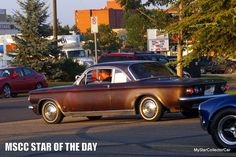 MSCC June 22 Star of the Day--a shift in early 60s attitude. READ MORE: http://mystarcollectorcar.com/mscc-june-20-star-of-the-day-the-21st-century-version-of-the-hemi-cuda/ #Corvair