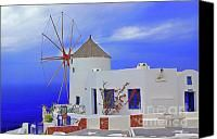 Santorini Windmills Photograph by Rich Walter - Santorini Windmills Fine Art Prints and Posters for Sale