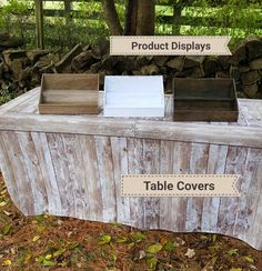 Fitted Table Covers - Light Pine Wood Crate - great for table top displays or craft fairs. Jewelry Table Display, Wood Display, Counter Display, Display Ideas, Craft Show Table, Vendor Table, Chevron, Pine Design, Craft Show Displays
