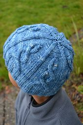 This is an easy unisex cabled hat for everyone. Enough patterning to keep you interested, yet easy enough to do while watching tv.