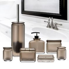 Immanuel Everyday 7 Piece Bathroom Accessory Set Color: Bathroom Interior Design, Towel Tray, Bath Sets, Lotion And Soap Dispensers, Bathroom Accessories Sets, Bath Accessories, Amazing Bathrooms, Brown Bathroom, Bathroom Accessories