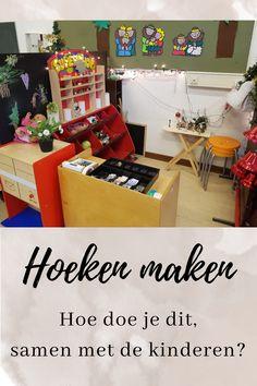 Hoeken maken met kinderen 21st Century Skills, New Career, Kindergarten, Workshop, Teacher, Games, Kids, Inspiration, Tools