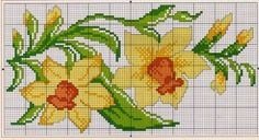 This Pin was discovered by Hul Cross Stitch Borders, Cross Stitch Flowers, Cross Stitch Charts, Cross Stitch Designs, Cross Stitch Embroidery, Hand Embroidery, Cross Stitch Patterns, Seed Bead Patterns, Beading Patterns