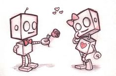 Robots <3 of course I love this one, lol #socute