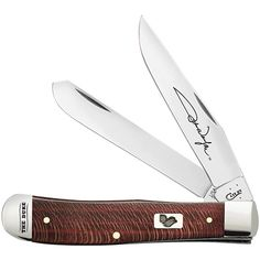 Case knives Case XX Knife Item # 10692 - Trapper - John Wayne - Red Sycamore Wood
