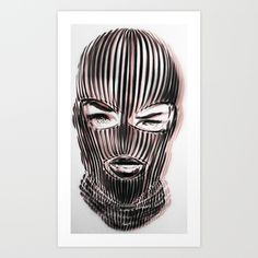 Buy Badwood 3D Ski Mask Art Print by Badwood. Worldwide shipping available at Society6.com. Just one of millions of high quality products available.