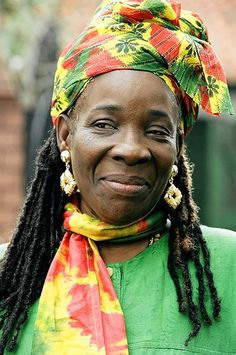 Rita Marley in Rasta Hues. Teddy Boys, Bob Marley Pictures, Marley Family, Jah Rastafari, Reggae Artists, Robert Nesta, Nesta Marley, Grunge, Jamaican Music
