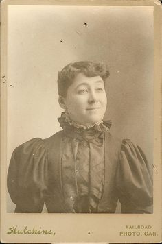 Hutchins Railroad Photo Car - Young Woman - Cabinet Card | Flickr - Photo Sharing!