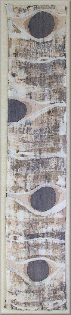"Aspen Bark - Eyes in Browns and Mushrooms, - Dupioni Mens Silk Scarf (approx. 11x54 inches) by Laura Elderton ""silkinart"" https://www.etsy.com/shop/lauraelderton"